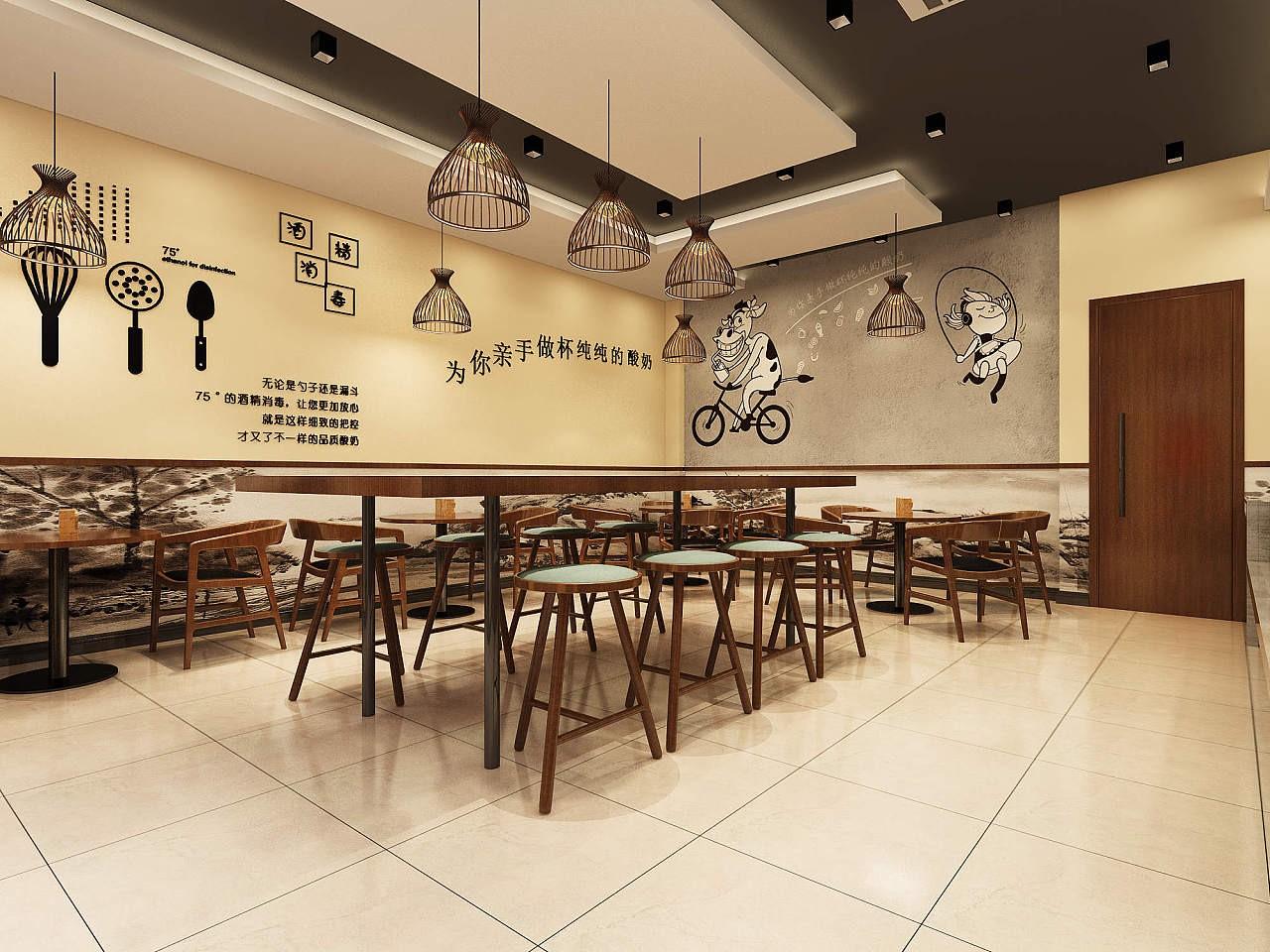 深圳奶茶店装修设计