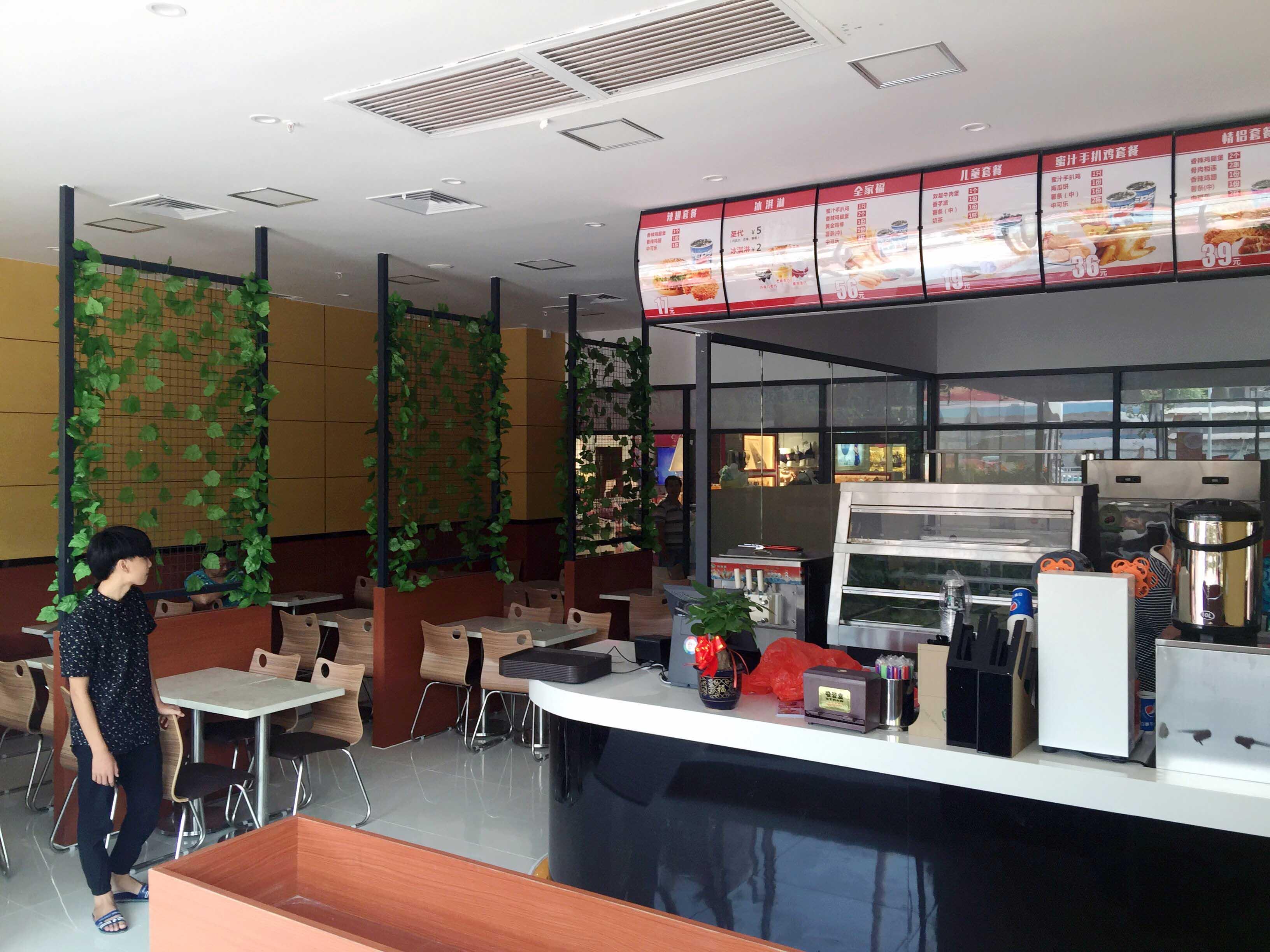 连锁汉堡店、奶茶店装修设计