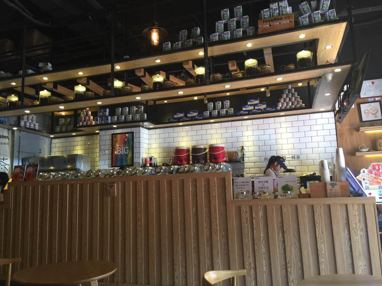 深圳奶茶店装修案例